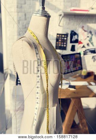 Fashion Design Mannequin Measurement Concept