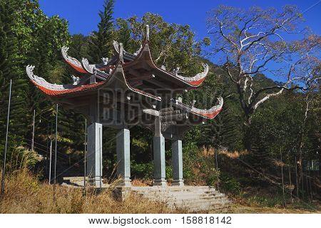 Temple of Nirvana Buddha on Ta Cu mountain Linh Son Truong Tho temple at Phan Thiet, Binh Thuan province, Vietnam