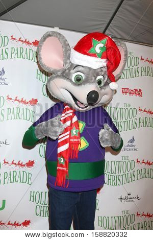 LOS ANGELES - NOV 27:  Chuck E. Cheese at the 85th Annual Hollywood Christmas Parade at Hollywood Boulevard on November 27, 2016 in Los Angeles, CA