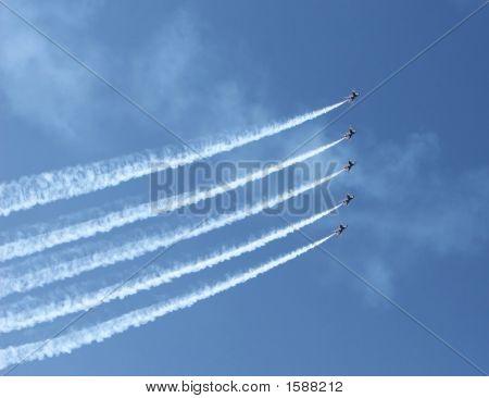 Five Fighter Jets
