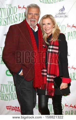 LOS ANGELES - NOV 27:  John McCook, Katherine Kelly Lang at the 85th Annual Hollywood Christmas Parade at Hollywood Boulevard on November 27, 2016 in Los Angeles, CA