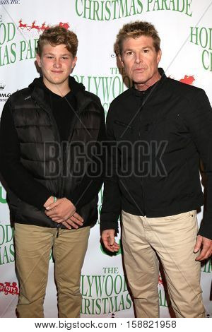 LOS ANGELES - NOV 27:  Winsor Harmon IV, Winsor Harmon III at the 85th Annual Hollywood Christmas Parade at Hollywood Boulevard on November 27, 2016 in Los Angeles, CA
