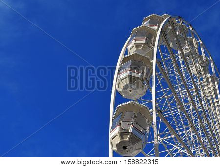 Big wheel in Birmingham city center, United Kingdom