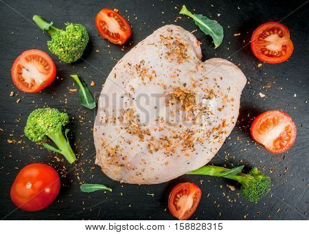 Chicken Fillet With Spices And Vegetables