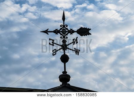 North, South, East, West-Weather vane with arrow