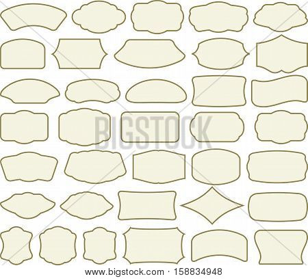 set of isolated frames - clip art illustration
