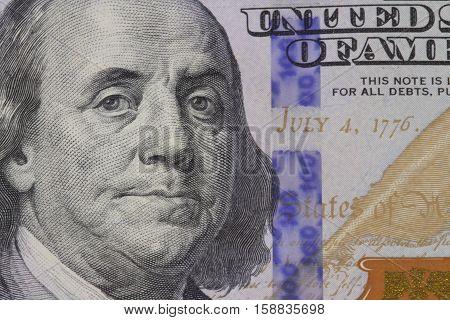 the President Franklin portrait American dollar money