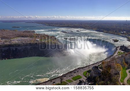Niagara Falls, Aerial View of Canadian Falls