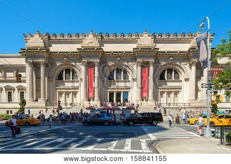 NEW YORK,USA - AUGUST 20,2016 : The Metropolitan Museum of Art in New York City