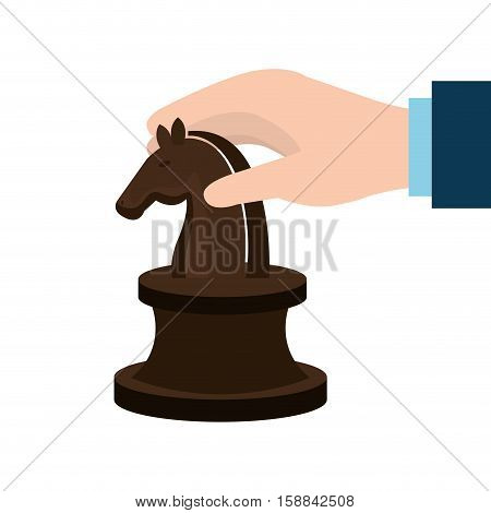 horse Chess icon over white background, vector illustration