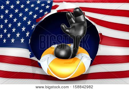 The Original 3D Character Illustration With Life Preserver