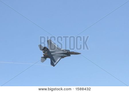 F15 Fighter Jet In Flight. A great shot for military stories poster