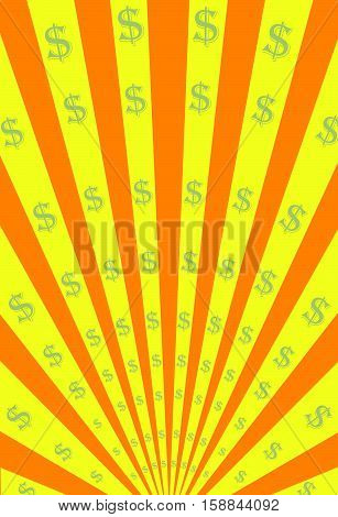 Vector Signs and Stripes Radiation Poster Background