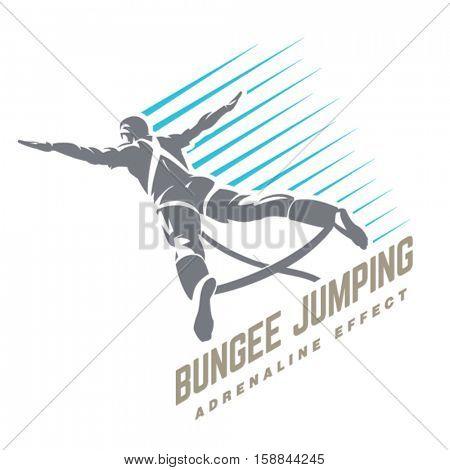 Bungee jumping. Sport emblem