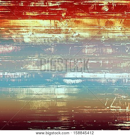 Vintage aged texture, old scratched background. With different color patterns: yellow (beige); brown; blue; red (orange); purple (violet); white