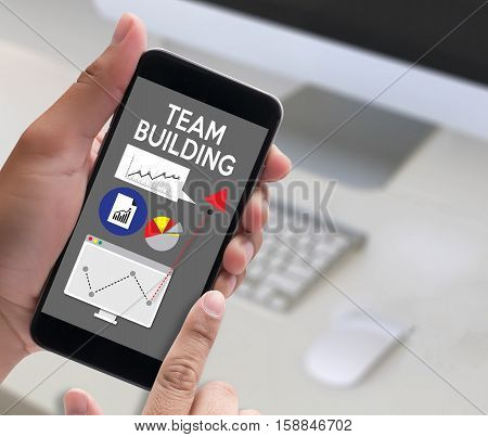 Team Building Partnership Team Cooperation ,  Business Persons Plan A Project Team Building , Busine