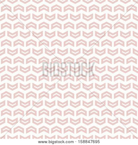 Geometric pattern with pink arrows. Seamless abstract background