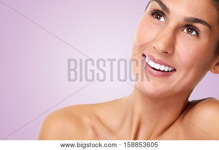 Smiling girl face.