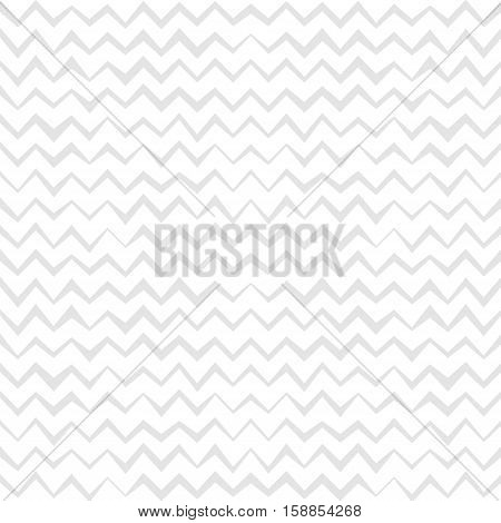 Vector hand drawn chevron background. Gray and white zigzag seamless pattern