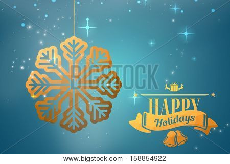 Christmas message against blue vignette background