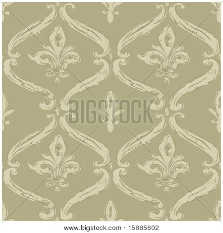 Vector Distressed FleurDeLys Background
