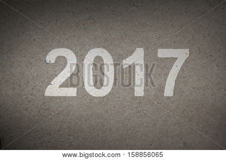 Happy New Year 2017 against path