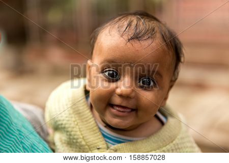 Indian baby on the street