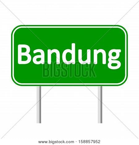 Bandung road sign isolated on white background.