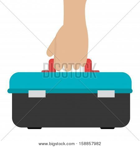 hand with toolbox icon vector illustration design