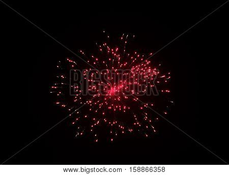 Fireworks display in the sky - night view