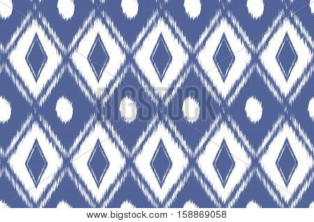 Seamless Pattern Tribal Art Ikat
