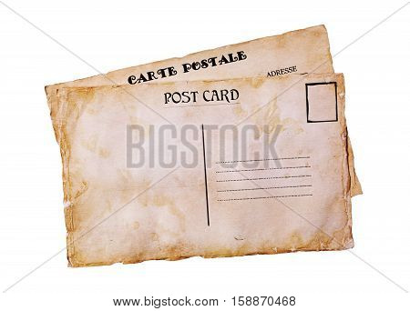 Old Grunge Postal Cards