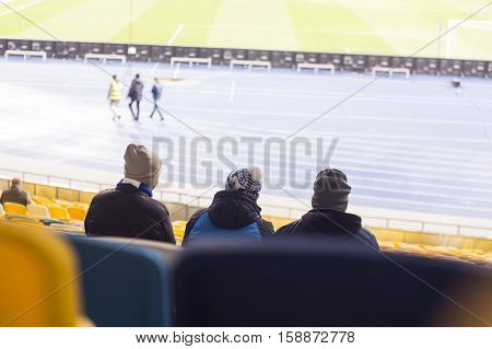 Let Sit In The Stadium Watching Football Fans