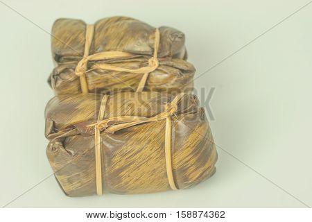 traditional thai sweet called khao tom mut