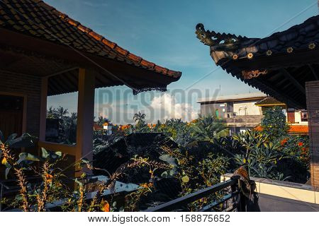 Buildings in the town of Ubud, Bali