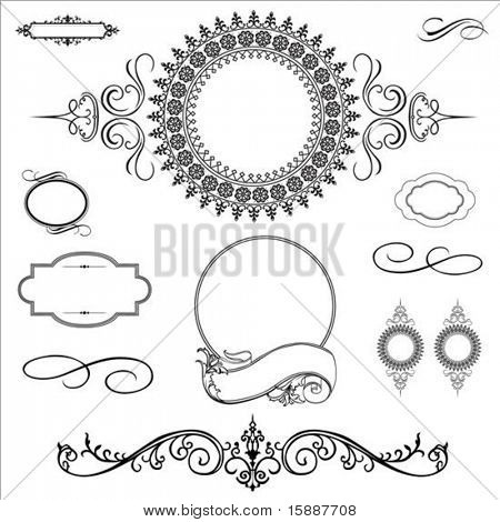 Set of detailed and ornate frames. Perfect for invitations or certificates