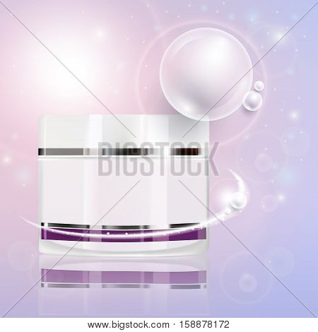 Collagen Serum Natural and Background Vector Skin Care Cosmetic concept.