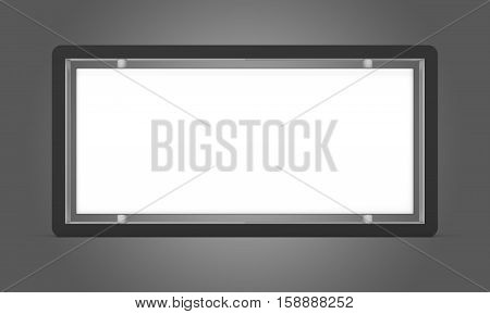 Lightbox On gradient gray Background. 3D rendering. Business template