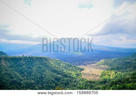 Kintamani Batur Volcano view the place of interest in Bali Indonesia