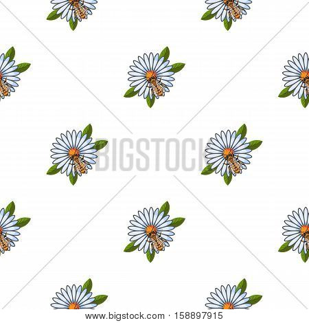 Honey dipper icon in pattern style isolated on white background. Apiary symbol vector illustration