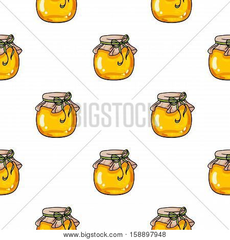 Beehive icon in pattern style isolated on white background. Apiary symbol vector illustration