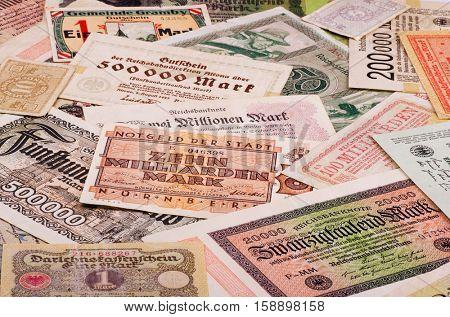 Old German notes (Emergency money or notgeld)