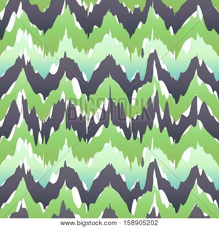 Seamless Camouflage Ogee In Ikat Weave Background Pattern Vector