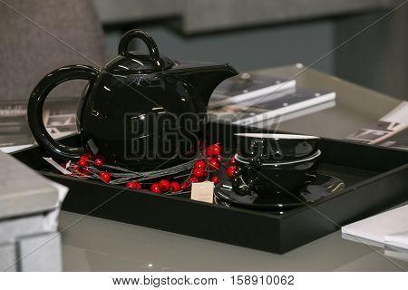 Tea Set In Office