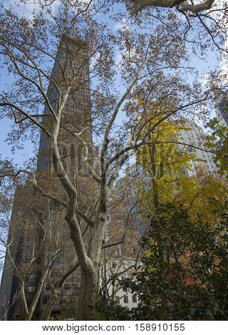 New York Manhattan USA Architecture houses bird's-eye view