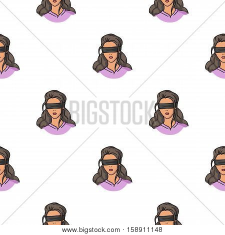 Hostage icon in pattern style isolated on white background. Crime symbol vector illustration.