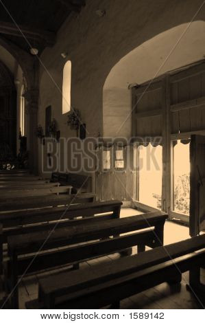 Catholic Church Inside In Chiapas, Mexico