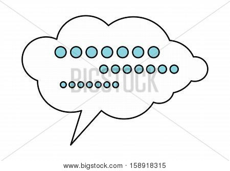 White dialog cloud with message. Dialog icon. Chat icon. Online communication element. Design element, sign, symbol, icon in flat. Isolated object on white background. Vector illustration.