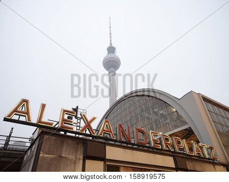 Alexanderplatz Station With The Tv Tower On The Background