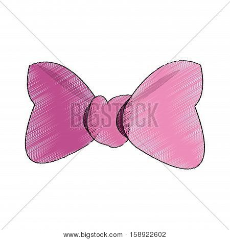 Bowtie icon. Female ribbon and decoration theme. Isolated design. Vector illustration